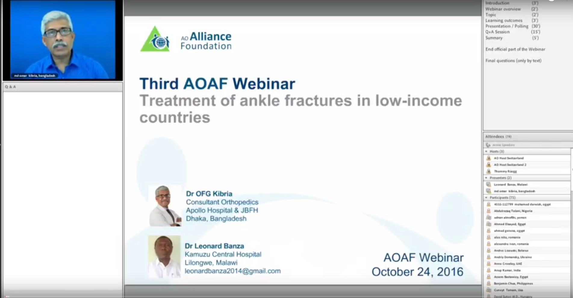 Treatment of ankle fractures in LICs