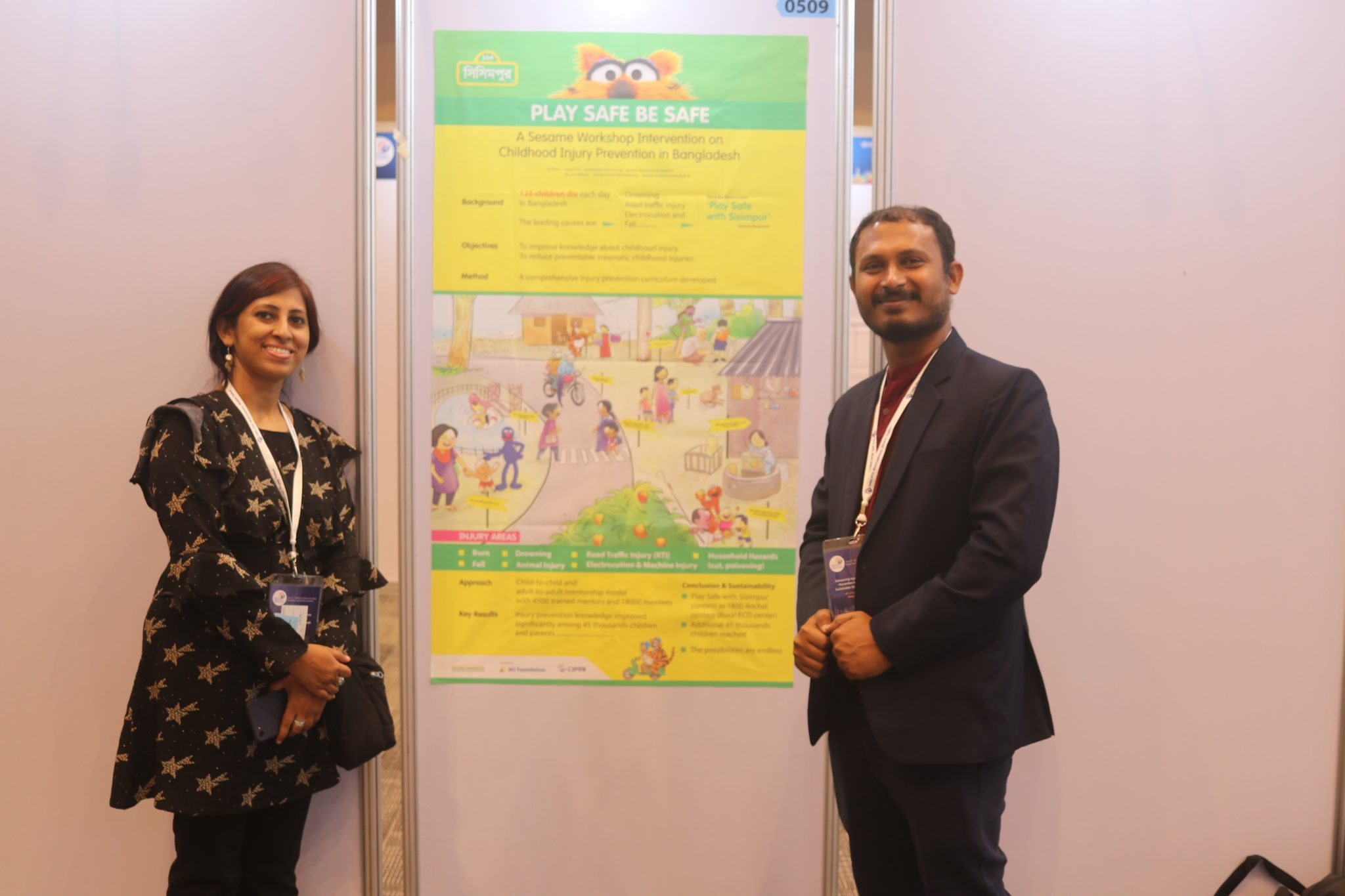 Sesame Workshop presents Play Safe poster at Safety 2018