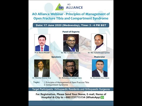 Principles of Management of Open Tibia Fracture and Compartment Syndrome (Bangladesh) (June 17, 2020)