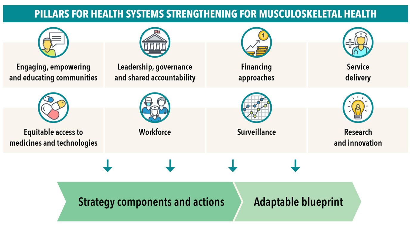 Health systems strengthening to arrest the global disability burden: empirical development of prioritised components for a global strategy for improving musculoskeletal health